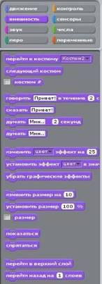 Методика преподавания темы «Программирование в среде Scratch» учащимся начальной школы